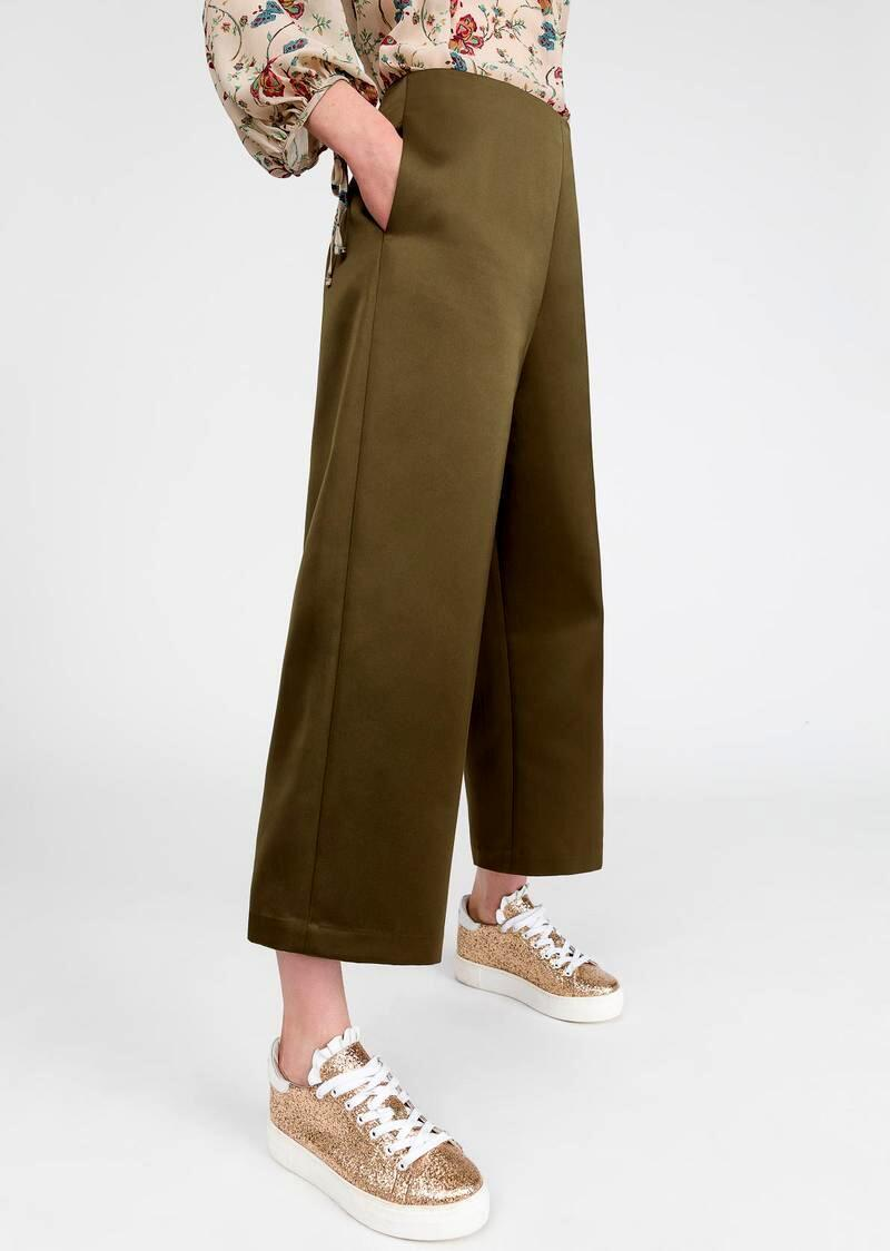 Duchesse satin trousers