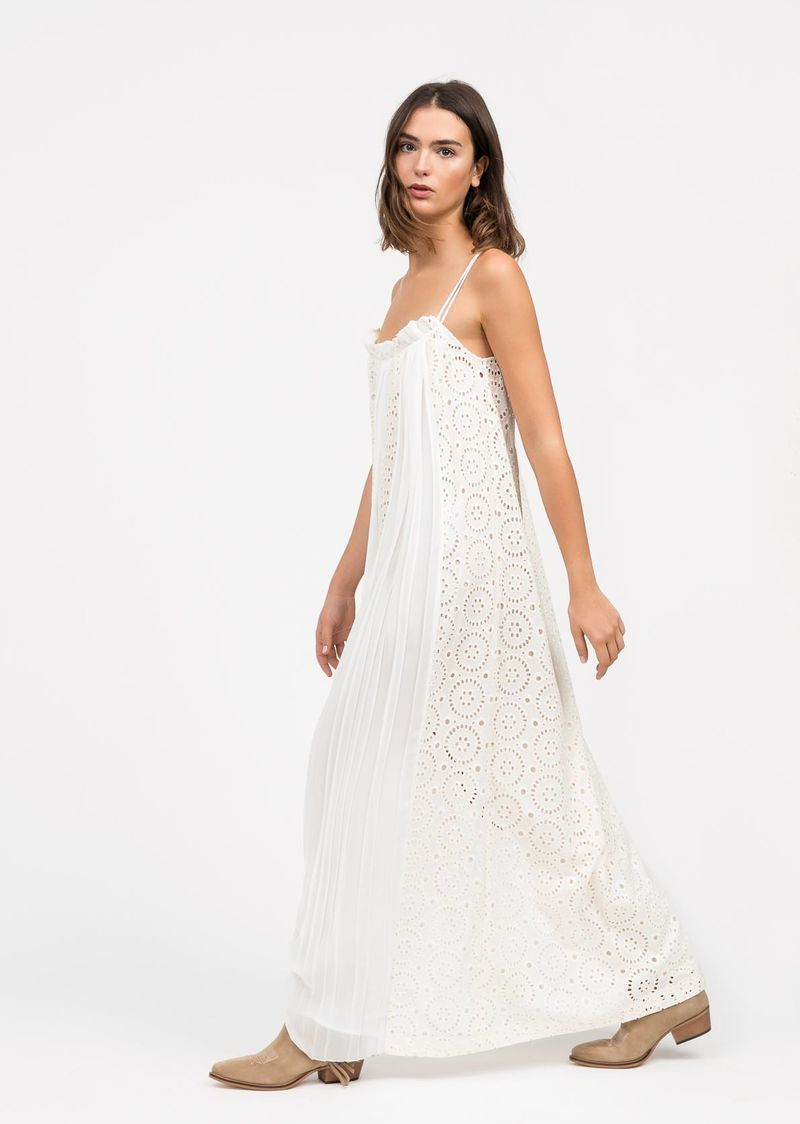Broderie anglaise and georgette dress