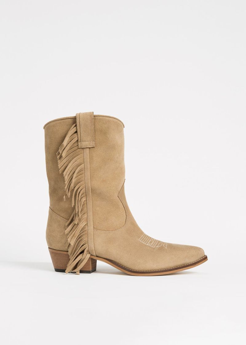 Fringed cowboy boots